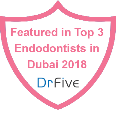 Featured in Top 9 Dentists in Dubai 2017 badge for DrFive