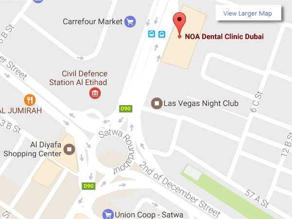 NOA Dental Clinic in Dubai Map