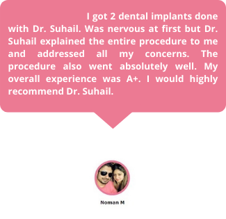 Dental Implants in Dubai Testimonial